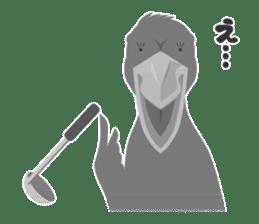 The suspicious bird:Mr.Shoebill sticker #101043