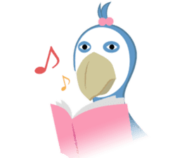 The suspicious bird:Mr.Shoebill sticker #101045