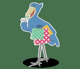The suspicious bird:Mr.Shoebill sticker #101046
