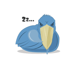 The suspicious bird:Mr.Shoebill sticker #101055