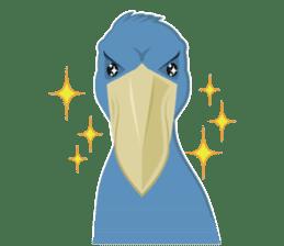 The suspicious bird:Mr.Shoebill sticker #101061