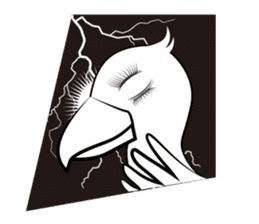 The suspicious bird:Mr.Shoebill sticker #101070
