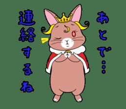 Prince of rabbit sticker #101089