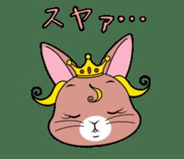 Prince of rabbit sticker #101101