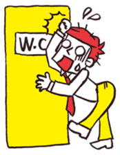 A red haired man's daily work sticker #102064
