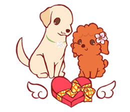 Sweet Cute baby Dogs & Cats Character sticker #102101