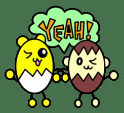 Kumatama and funny friends sticker #102320