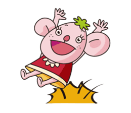 Merry and Hurry have fun everyday sticker #102420