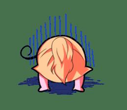 Kigurumi P-chan sticker #103079