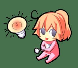 Kigurumi P-chan sticker #103091