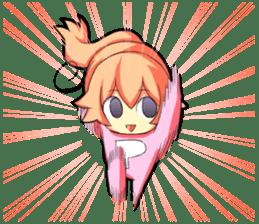 Kigurumi P-chan sticker #103092
