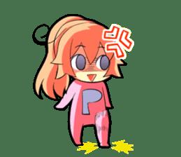 Kigurumi P-chan sticker #103093