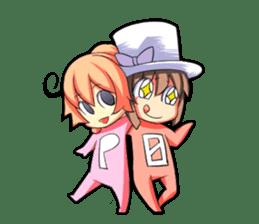 Kigurumi P-chan sticker #103095
