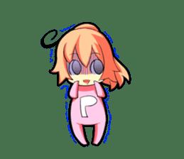 Kigurumi P-chan sticker #103098
