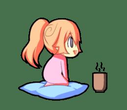 Kigurumi P-chan sticker #103114