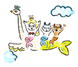 Mermaid and Friends sticker #104074