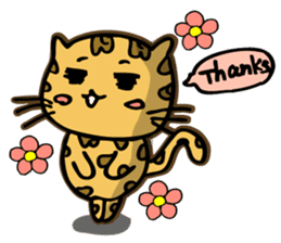 Miss. Leopard Cat sticker #104636