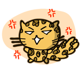Miss. Leopard Cat sticker #104641
