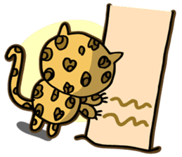 Miss. Leopard Cat sticker #104645