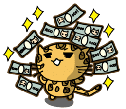 Miss. Leopard Cat sticker #104648