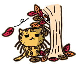 Miss. Leopard Cat sticker #104667