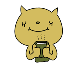 Relaxedly cat sticker #108263