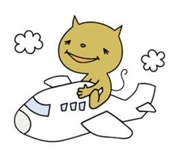 Relaxedly cat sticker #108267