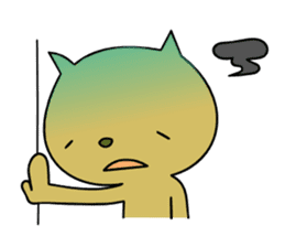 Relaxedly cat sticker #108275