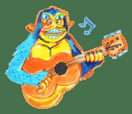 BLUE GORILLA sticker #108516