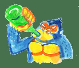 BLUE GORILLA sticker #108517