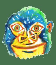BLUE GORILLA sticker #108535