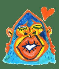 BLUE GORILLA sticker #108541