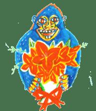 BLUE GORILLA sticker #108547