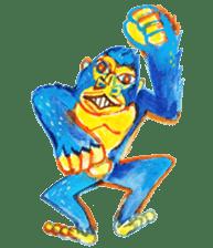 BLUE GORILLA sticker #108551