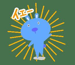 Stamp of fun rabbits hopping! sticker #112713