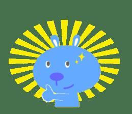 Stamp of fun rabbits hopping! sticker #112734