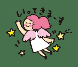 Angel stamp LOVE sticker #113430