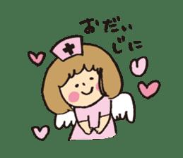 Angel stamp LOVE sticker #113434