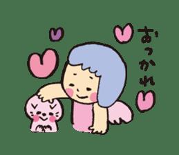 Angel stamp LOVE sticker #113435
