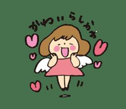 Angel stamp LOVE sticker #113439