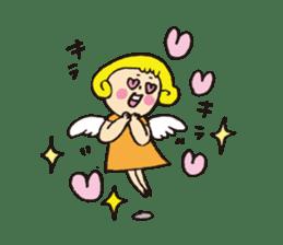 Angel stamp LOVE sticker #113441
