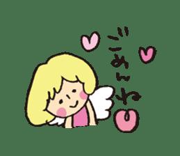Angel stamp LOVE sticker #113445