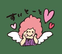 Angel stamp LOVE sticker #113450