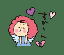 Angel stamp LOVE sticker #113451