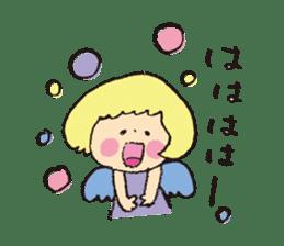 Angel stamp LOVE sticker #113456