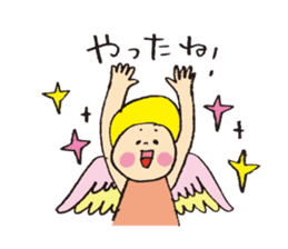 Angel stamp LOVE sticker #113461