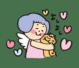 Angel stamp LOVE sticker #113462