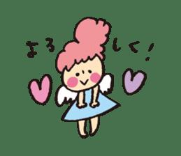 Angel stamp LOVE sticker #113463