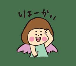 Angel stamp LOVE sticker #113464