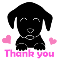 black lab Lucas sticker #115133